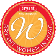 Bryant Woman in HVAC badge